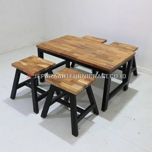 Jual Set Meja Makan Minimalis Cafe Laminasi Terbaru