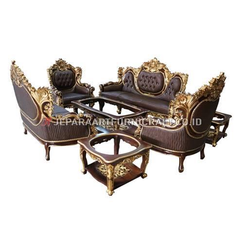 Exclusive Set Sofa Tamu Klasik Ukir Calista Terpercaya