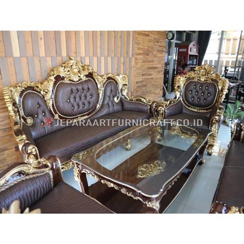 Exclusive Set Sofa Tamu Klasik Ukir Calista Terbaik