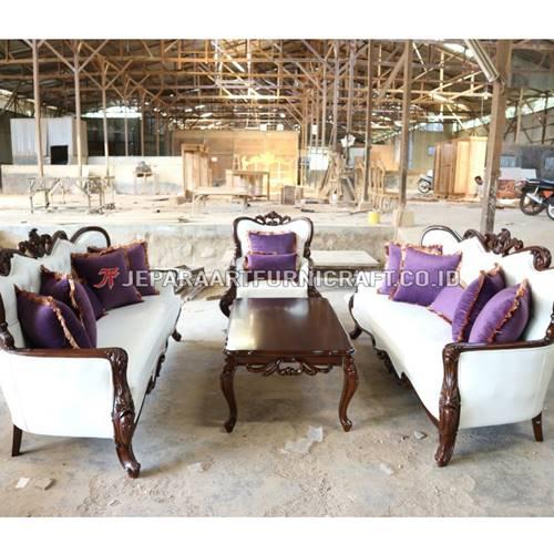 Beli Set Sofa Tamu Ukir Klasik Parretti Termurah