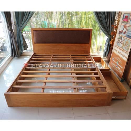 Jual Tempat Tidur Jati Minimalis Sugi Terbaru