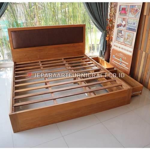 Jual Tempat Tidur Jati Minimalis Sugi Berkualitas