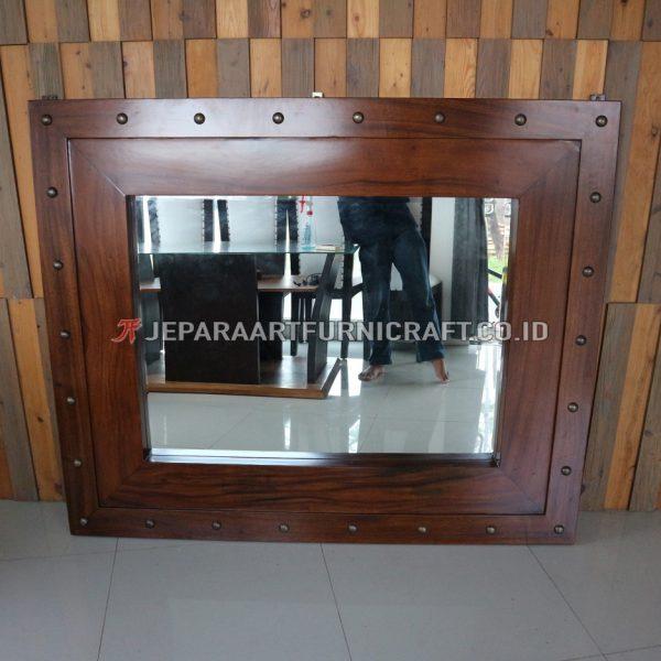 Exclusive Pigura Cermin Minimalis Solid Trembesi Terbaru
