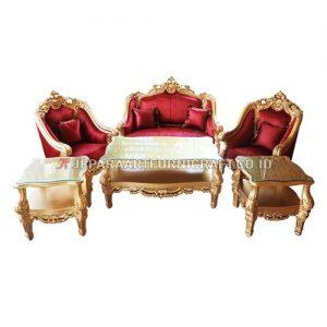 Promo Set Sofa Tamu Mewah Ukir Klasik Clearmont Terbaru
