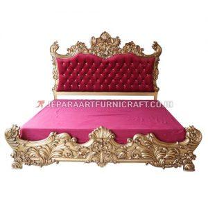 Jual Tempat Tidur Mewah Ukir Klasik Baroque Jepara Murah