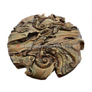 Jual Hiasan Dinding Art Abstract Jati Recycled Berkualitas