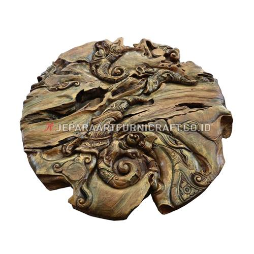 Jual Hiasan Dinding Art Abstract Jati Recycled Berkualitas