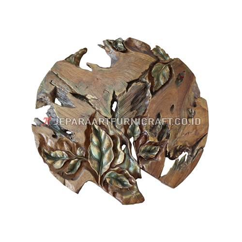 Jual Hiasan Dinding Leaf Abstract Jati Recycled Terpercaya
