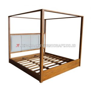 Jual Tempat Tidur Jati Minimalis Kanopi Jepara Terbaru